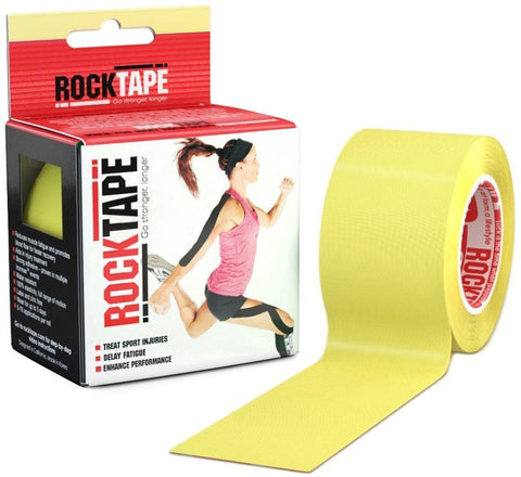 RockTape Kinesiology Tape for Athletes - 2-Inch x 16.4-Feet (Yellow)