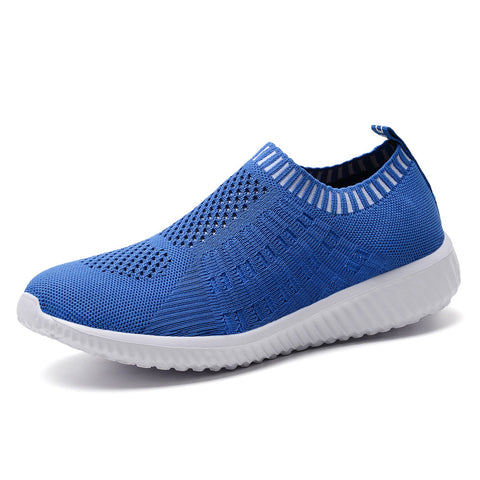 TIOSEBON Women's Athletic Walking Shoes Casual Mesh-Comfortable Work Sneakers 5 US Blue