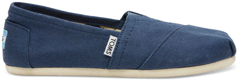 TOMS Womens Classics Navy Canvas 001001B07-NVY Womens 9