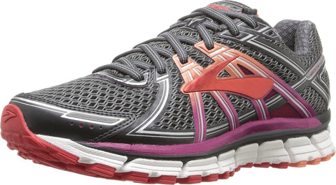 Brooks Women's Adrenaline GTS 17 Anthracite/Festival Fuchsia/Bittersweet 8 D US