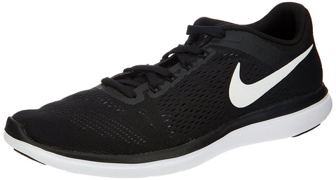 Nike Mens Flex RN 2016 Running Shoe Black/White/Cool Grey Size 9