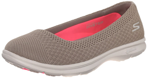 Skechers Performance Women's Go Step Primary Walking Shoe, Taupe Mesh, 11 M US