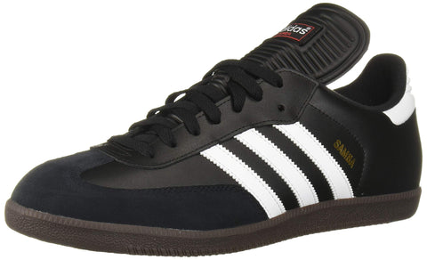 adidas Men's Samba Classic Soccer Shoe,Black/Running White,7 M US