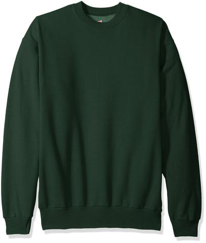 Hanes Men's Ecosmart Fleece Sweatshirt, Deep Forest, Small