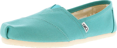 TOMS Women's Seasonal Classics Turquoise Canvas Loafer