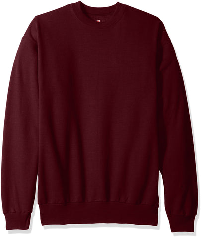 Hanes Men's EcoSmart Fleece Sweatshirt, Maroon, Small