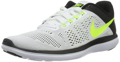 Nike Men's Flex 2016 RN Running Shoe White/Volt/Black Size 10 M US
