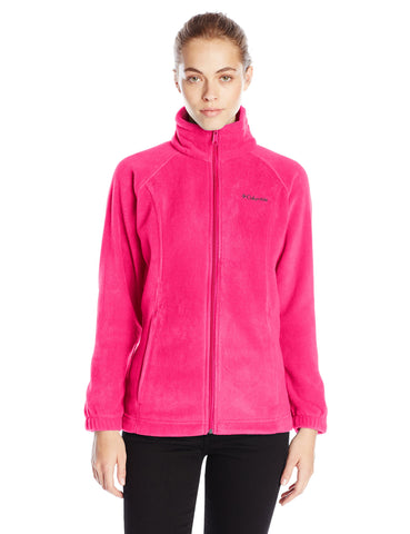 Columbia Women's Benton Springs Classic Fit Full Zip Soft Fleece Jacket, Punch Pink, Medium