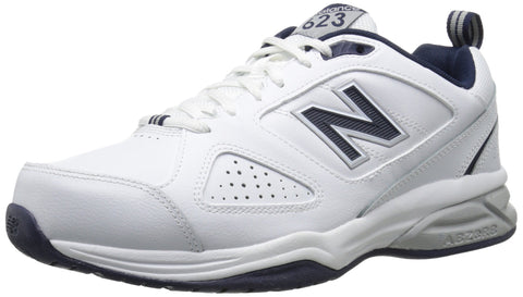 New Balance Men's MX623v3 Casual Comfort Training Shoe,  White/Navy, 12 XW US