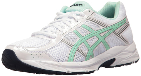 ASICS Women's Gel-Contend 4 Running Shoe, White/Bay/Silver, 8.5 M US