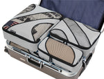 6 Set Packing Cubes,3 Various Sizes Travel Luggage Packing Organizers (Grey)