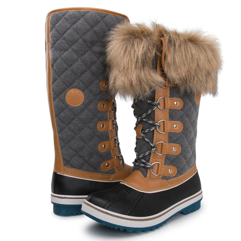 Kingshow Women's Globalwin 1707wheat/Grey Waterproof Winter Boots - 6.5 D(M) US Women's