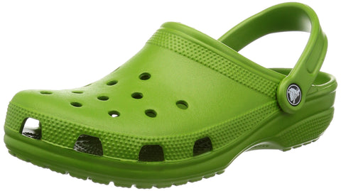crocs Classic Clog|Comfortable Slip On Casual Water Shoe, Parrot Green, 10 M US Women / 8 M US Men