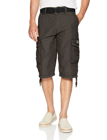 Unionbay Men's Cordova Belted Messenger Cargo Short - Reg and Big and Tall Sizes, flint, 52