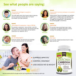 Pure Garcinia Cambogia Extract - 95% HCA Capsules - Best Weight Loss Supplement - Non GMO - Gluten & Gelatin Free - Natural Appetite Suppressant - 100% Money Back Guarantee - Order Risk Free! 60 Caps®