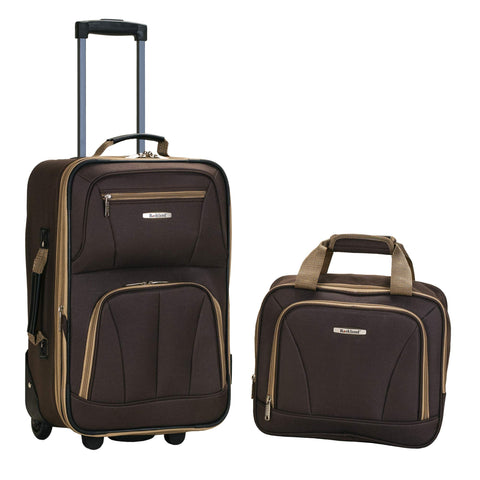 Rockland Luggage 2 Piece Set, Brown, One Size
