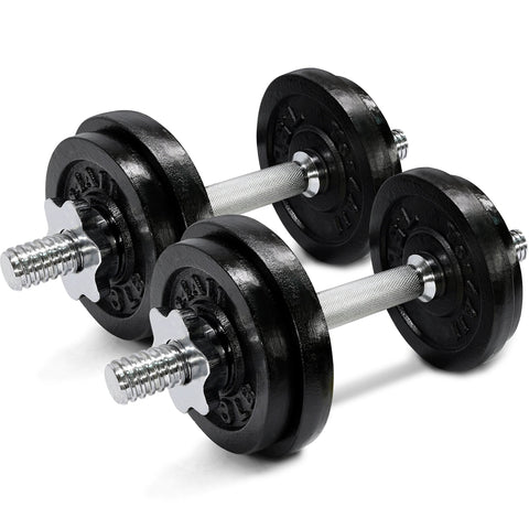 Yes4All Adjustable Dumbbells - 50 lb Dumbbell Weights (Pair)