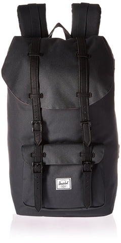 Herschel Little America Backpack, Dark Shadow/Black Synthetic Leather