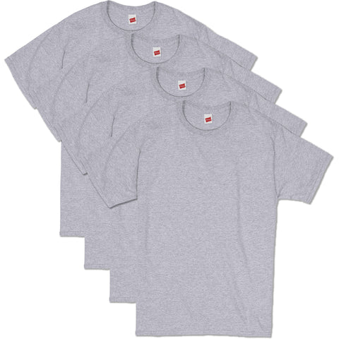 Hanes Men's Comfortsoft T-Shirt (Pack Of 4),Light Steel,X-Large