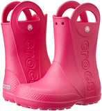 Crocs Kids' Handle It Rain Boots, Easy On for Toddlers, Boys, Girls, Lightweight and Waterproof, Candy Pink, 9 M US Toddler