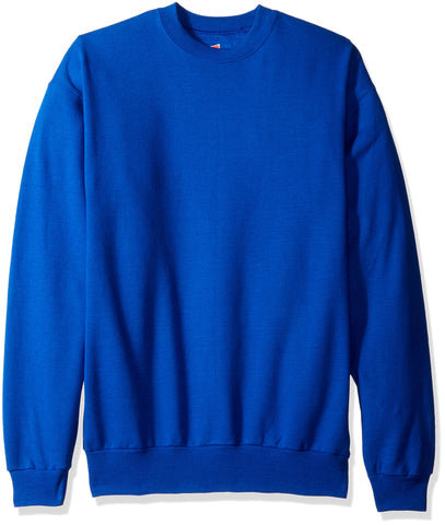 Hanes Men's Ecosmart Fleece Sweatshirt, Deep Royal, Small