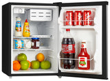Midea WHS-87LSS1 Compact Single Reversible Door Refrigerator and Freezer, 2.4 Cubic Feet, Stainless Steel