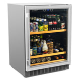 Smith & Hanks BEV145SRE 178 Can Capacity Single Zone Under Counter Beverage Refrigerator, 24 Inch Width, Built-In or Free Standing