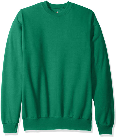 Hanes Men's EcoSmart Fleece Sweatshirt, Kelly Green, XL