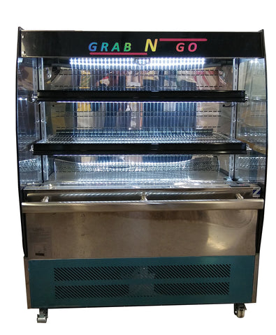 "Grab-n-Go, Product display Refrigerator with front lid, ETL Certified, LED light, temperature control, 7.06 cubic ft, 39.37"" width x 22"" dept x 49.21"" height"