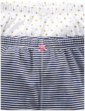 Simple Joys by Carter's Baby Girls' 4-Pack Pant, Navy Stripe, White Dot, Pink, 0-3 Months