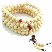 SANDALWOOD BUDDHIST PRAYER BEADS MALA.