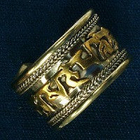 THE SANSKRIT POWER RING™. BUDDHA BUDDHIST TIBETAN SHAMAN TALISMAN AMULET OF PROTECTION AND POWER.