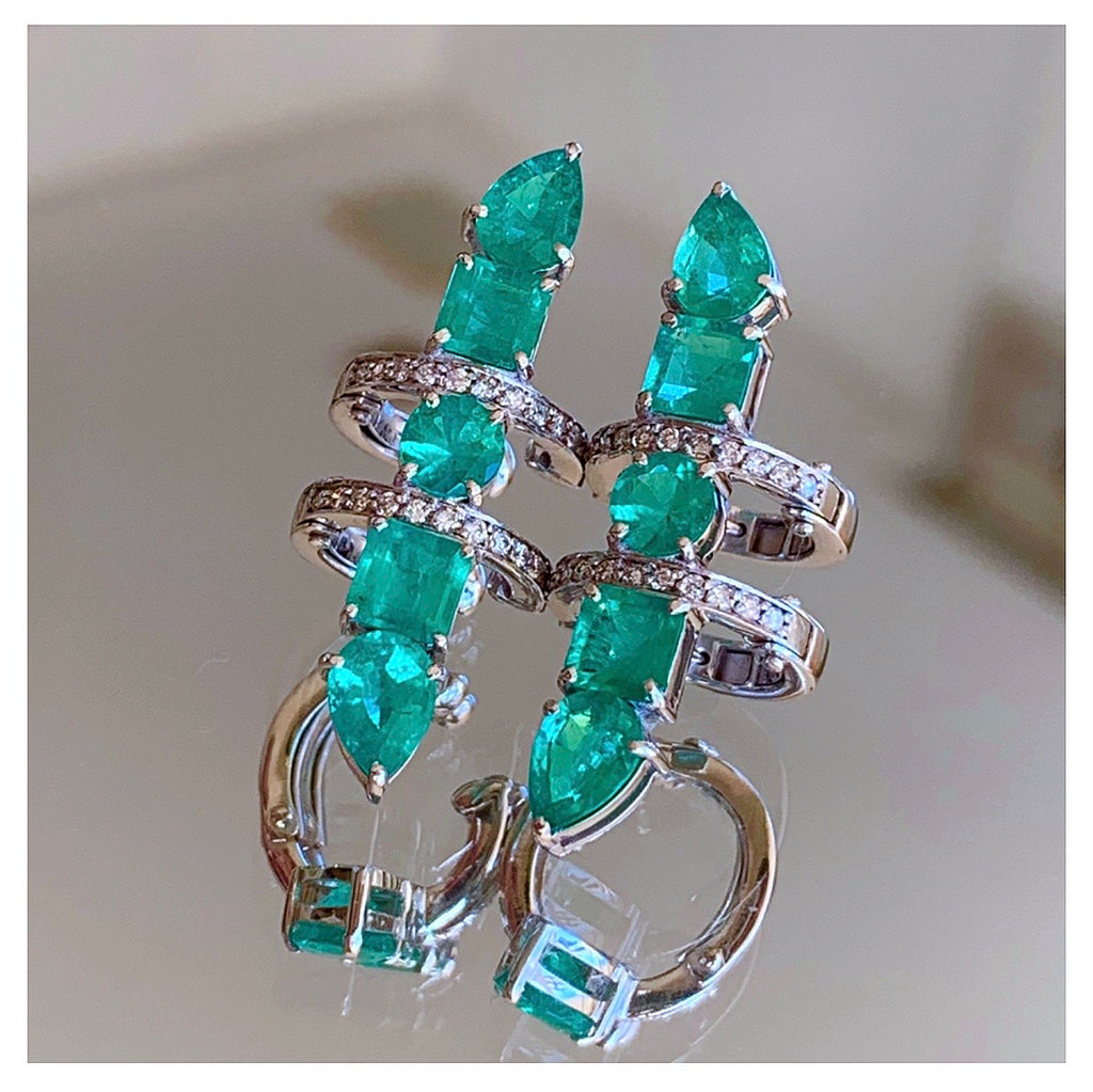 AC Lux Emerald Single Earcuff