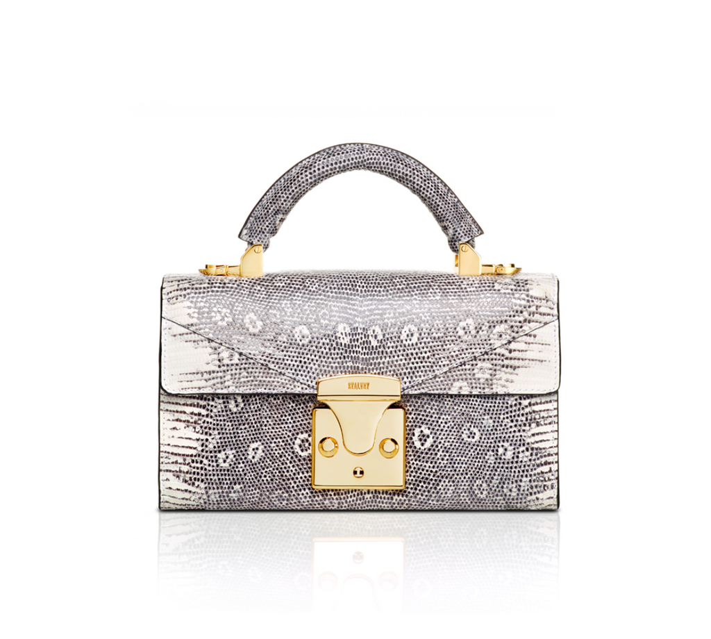 Handle Lizard Hardware 24k Gold Handbag