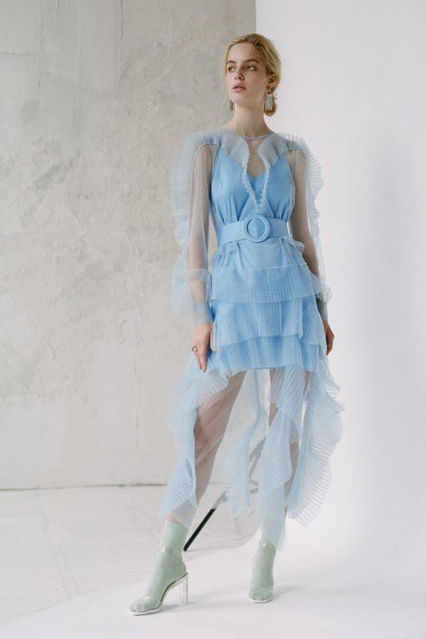 Ruffle Sheer Maxi Dress