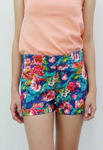 Floral Walking Shorts (Blue) - TM