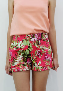 Floral Walking Shorts (Fuchsia) - TM