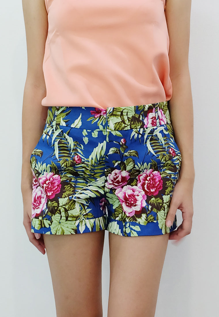 Floral Walking Shorts (Navy) - TM