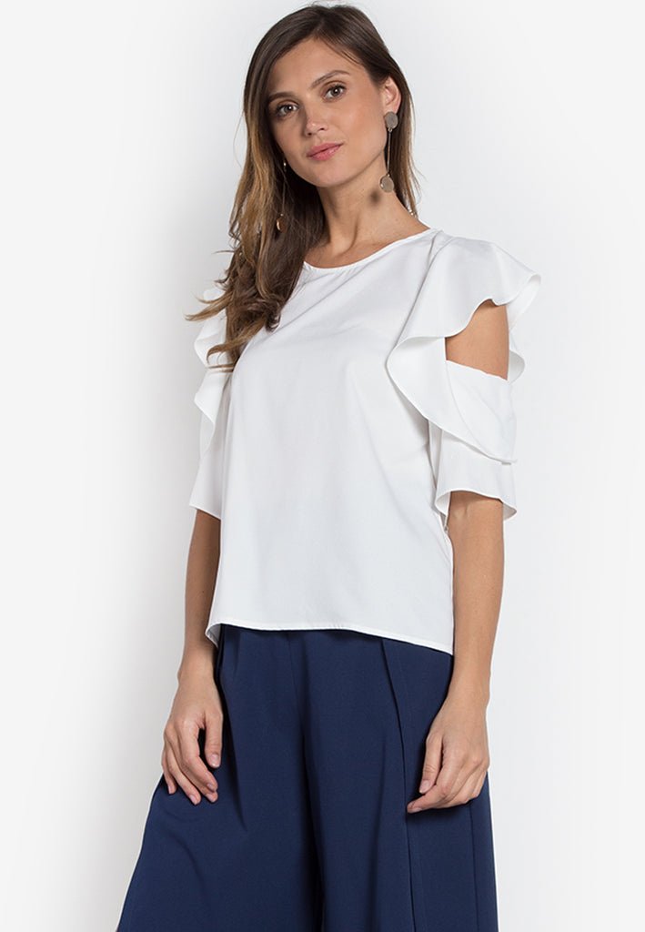 Andes Flounce Sleeve Top
