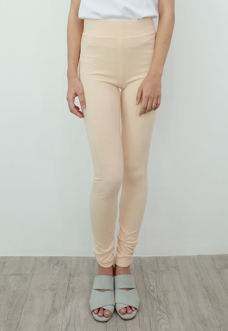 Textured Leggings (Cream)