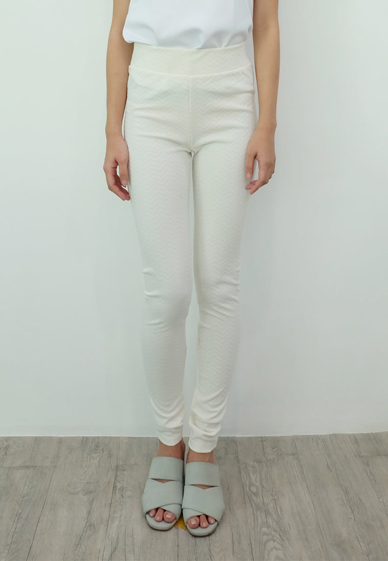 Textured Leggings (White)