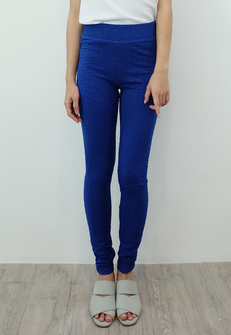 Textured Leggings (Royal Blue)