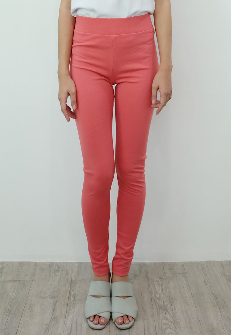 Textured Leggings (Pomelo)