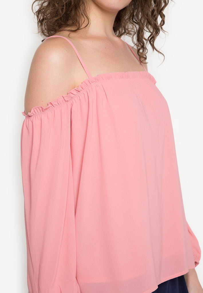 Yorrick Cold Shoulder Top