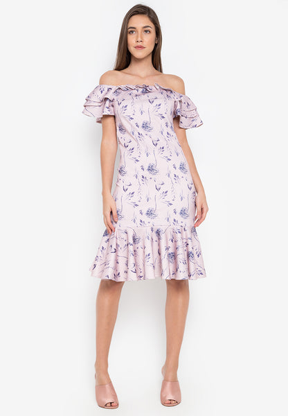 Durham Off Shoulder Dress - TM