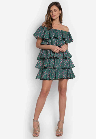 Acreuna Flounce Dress