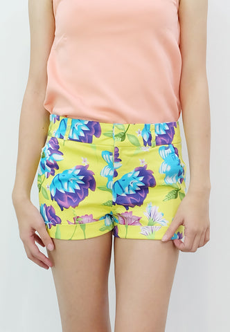 Floral Walking Shorts (Yellow) - TM