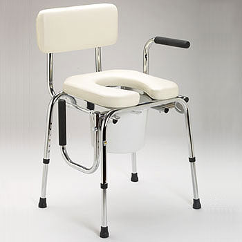 Drop Arm Commode with Padded Seat