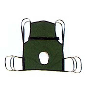 Basic 4-Pt Sling w/Commode Cut-Out/Positioning Strap