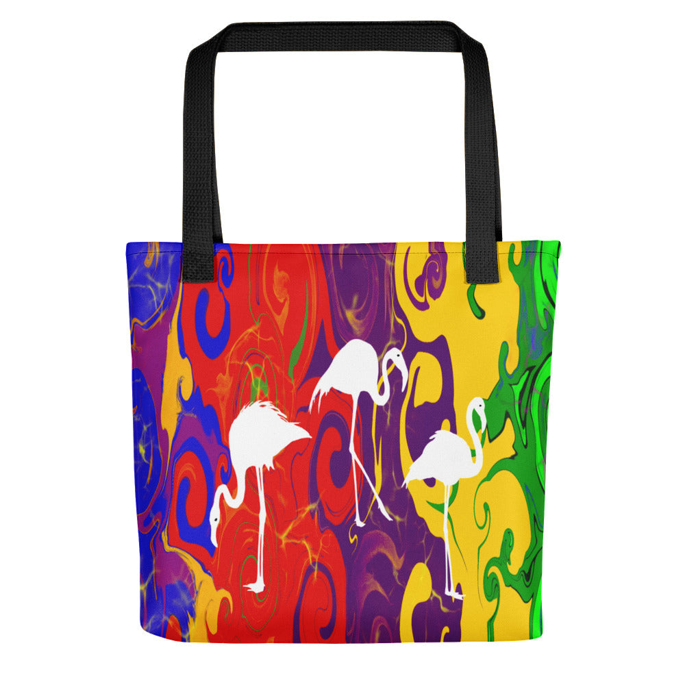Three Swans and Multi Color, Tote bag